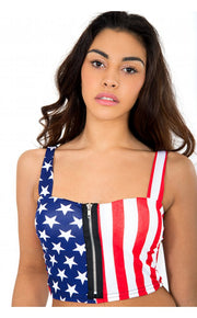 Patriotic USA Stars & Stripe Bralet