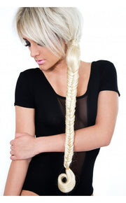 Celebrity Style Mermaid Fishtail Hair Plait In White Blonde