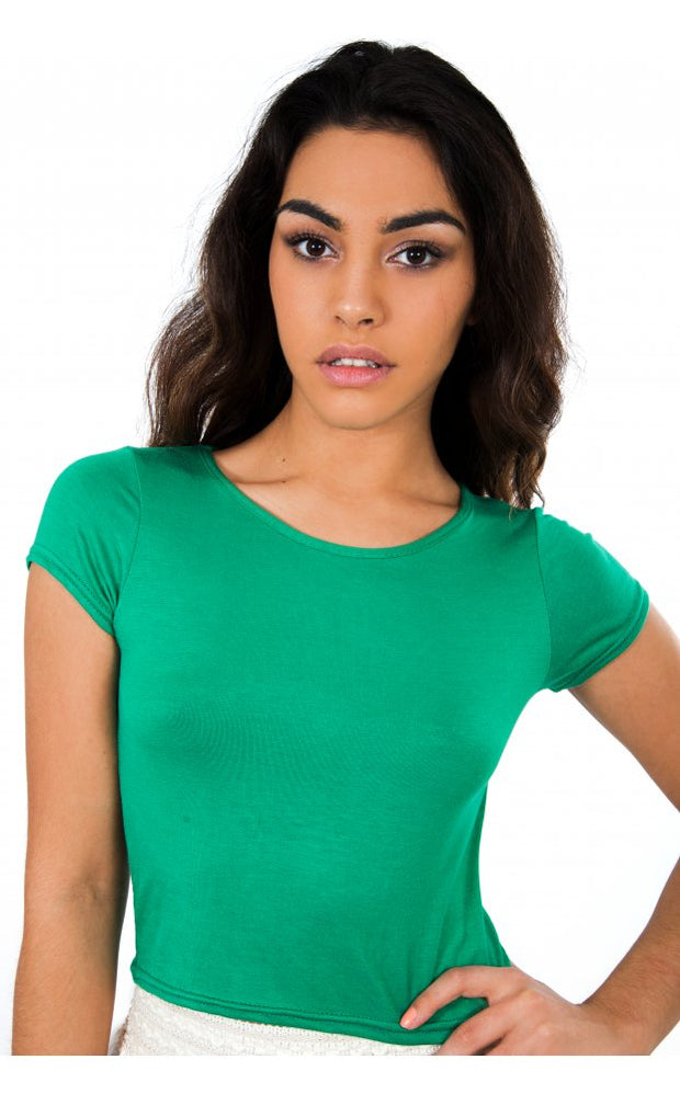 Basic Crop Top In Green