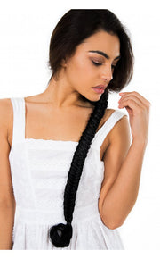 Celebrity Style Mermaid Fishtail Hair Plait In Black
