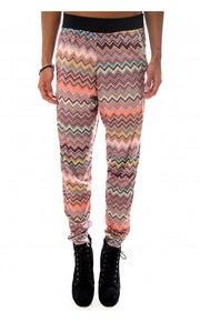 Zig Zag Print Tapered Trousers