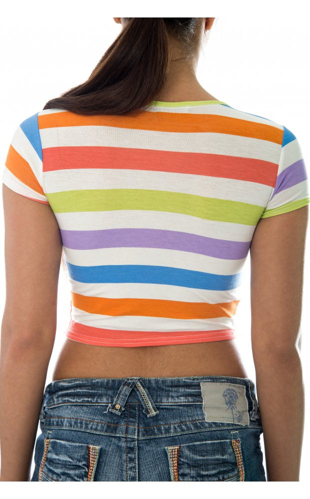 Candystripe Crop Top