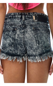 Limited Edition Denim Tassel Trim Shorts