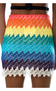Yaeger Aztec Mini Skirt