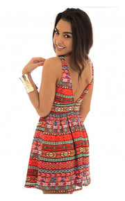Starlett Aztec Backless Dress