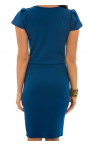 Infusion Bodycon Dress In Blue