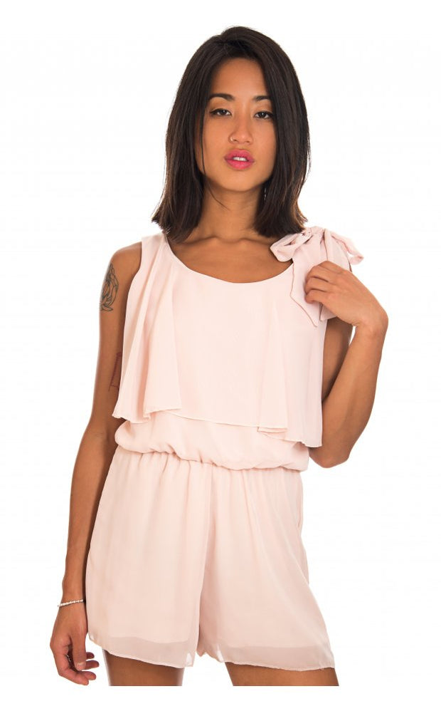 Odelle Frill Playsuit In Nude