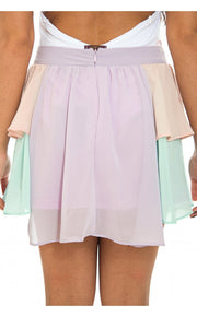 Multicoloured Layered Chiffon Skirt