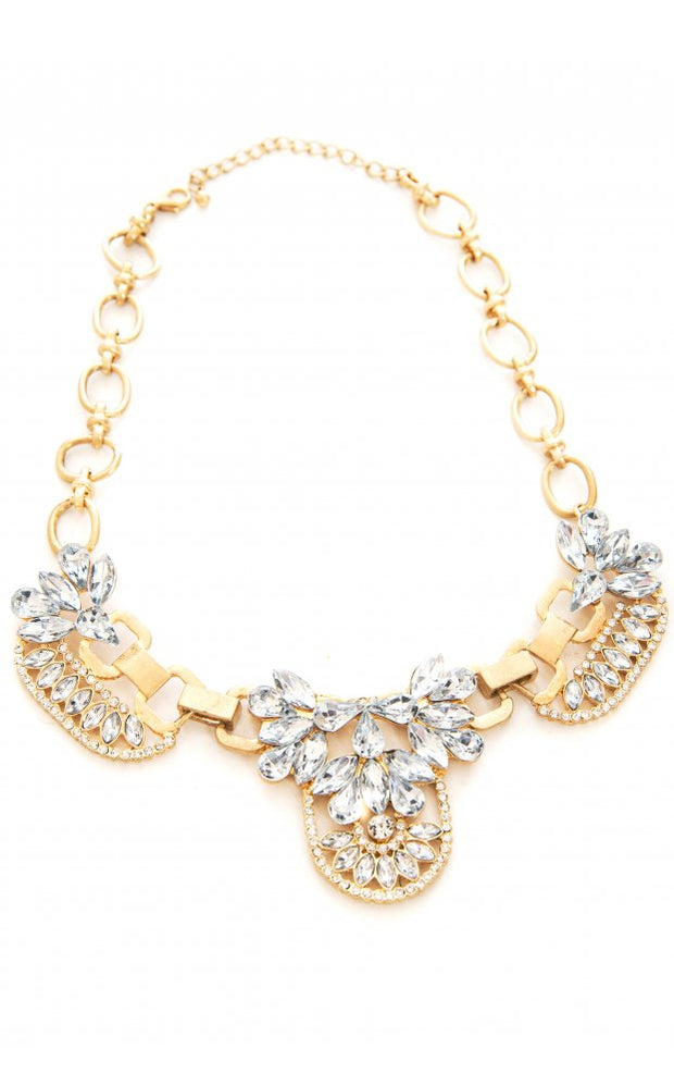 Limited Edition Crystal Cluster Chain Necklace