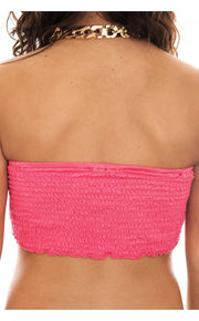 Pink Sequin Bralet Top