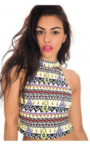 High Velocity Crop Top In Neon Yellow