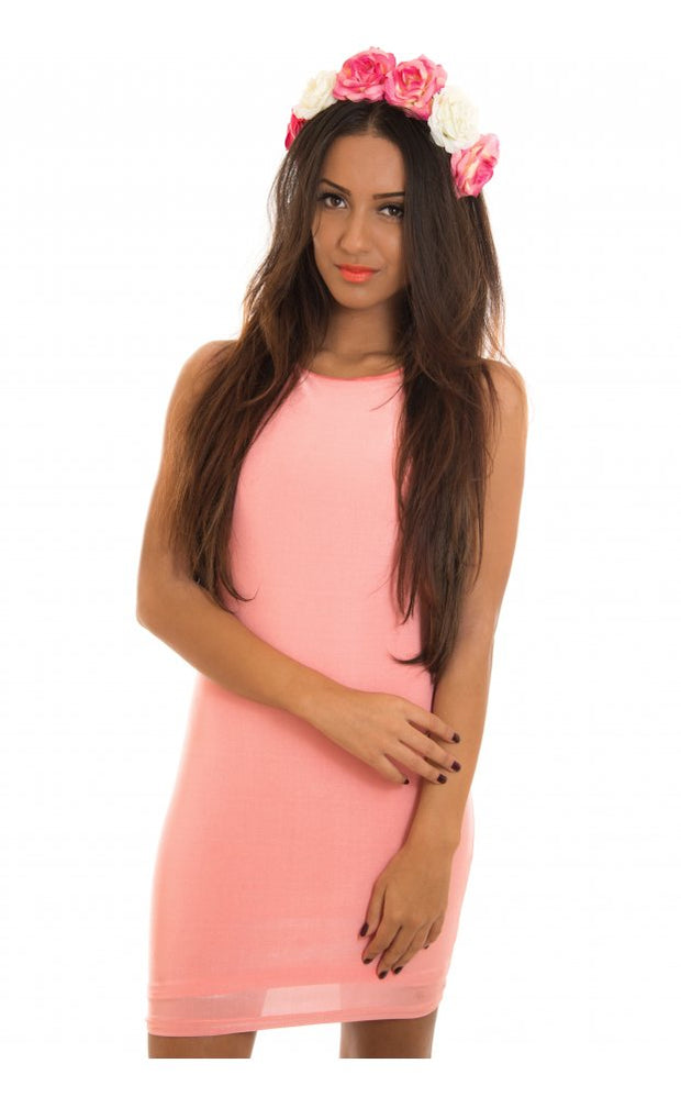 Opulence Draped Back Bodycon Dress In Pink