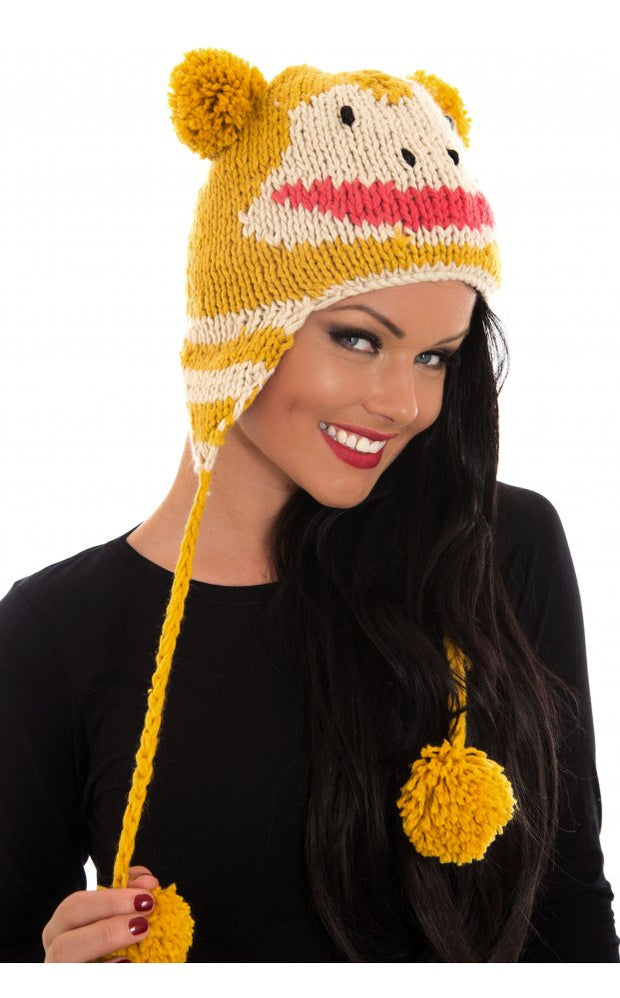 Paris Pom Pom Hat In Mustard