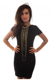 Daisy Black Shift Dress