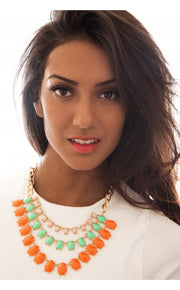 Tutti Frutti Necklace In Orange