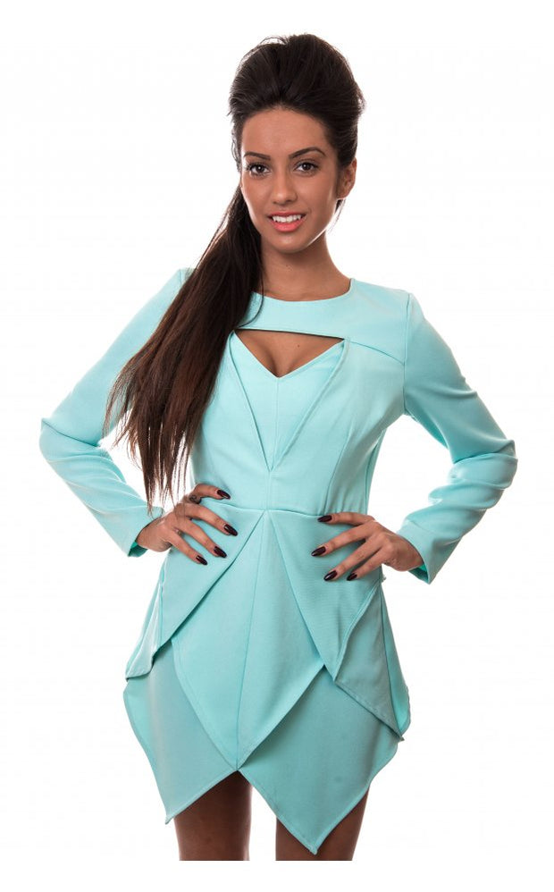 Sisi Aqua Shift Dress