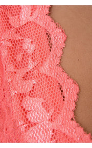Lucca Couture Coral Lace Playsuit