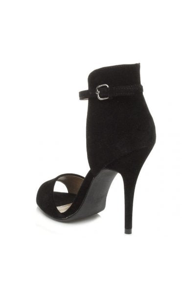 Chanelle Black Suede Heels