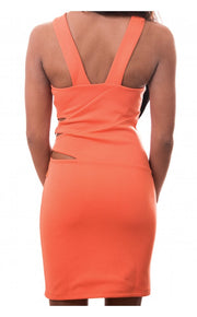Orange Boom Strap Back Dress