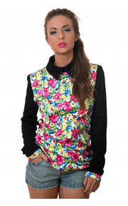 Midsummer Nights Oversized Floral Blouse