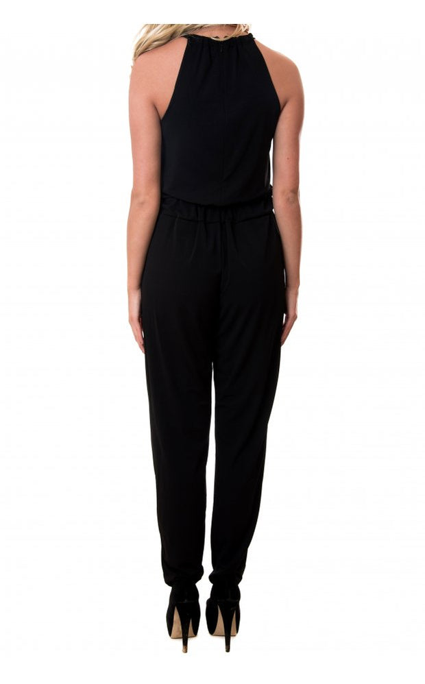 Rosella Halter Neck Jumpsuit In Black