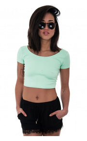 Sahara Mint Cross Back Top