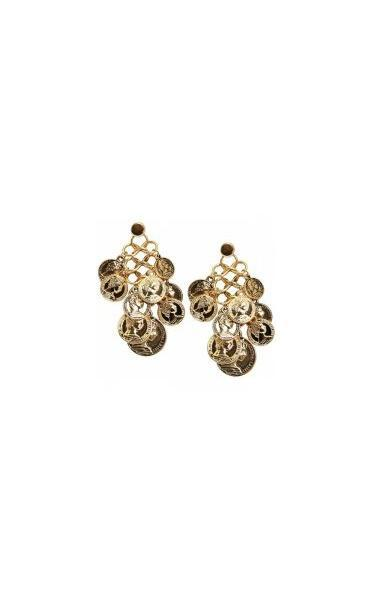 Milan Gold Coin Earrings