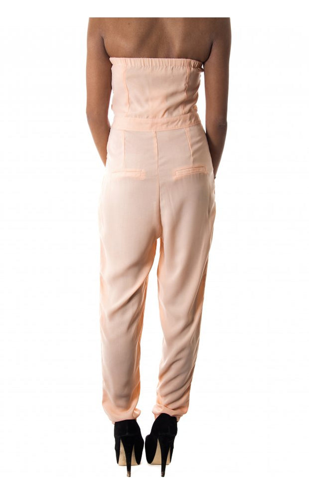 In To Deep Chiffon Jumpsuit In Nude