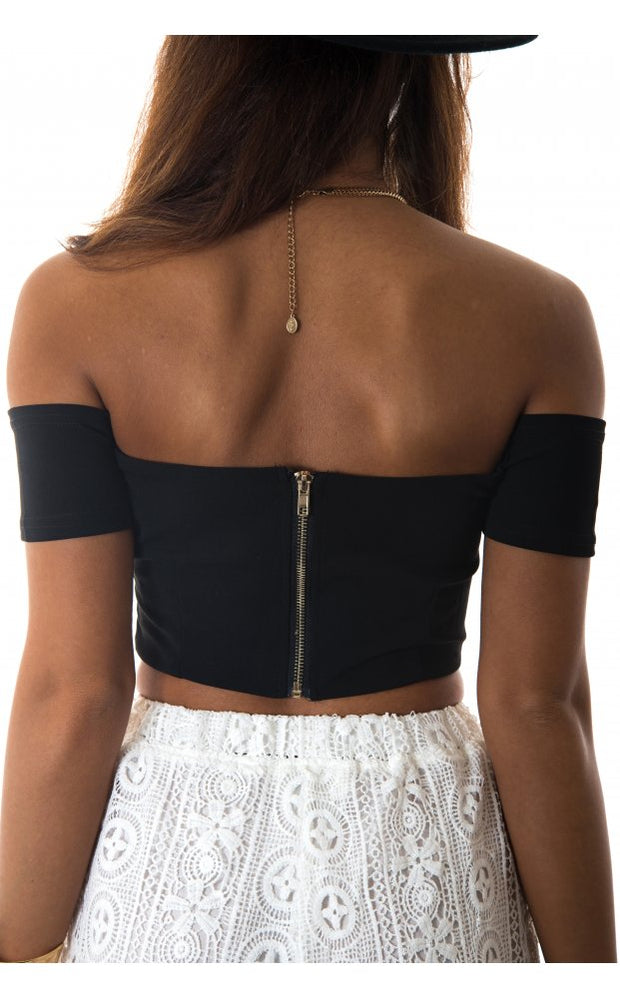 Bardot Bralet Top In Black