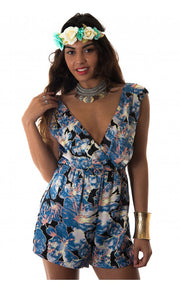 Aleshia Playsuit In Blue