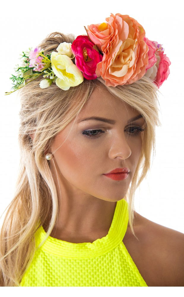 Summers Day Floral Hair Crown