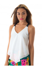 Limelight Strap Back Chiffon Top