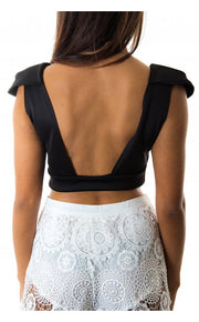 Madeline Low Back Top In Black