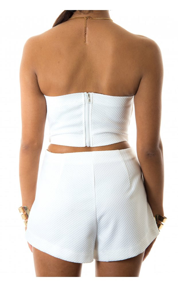 White Shorts Co-Ord