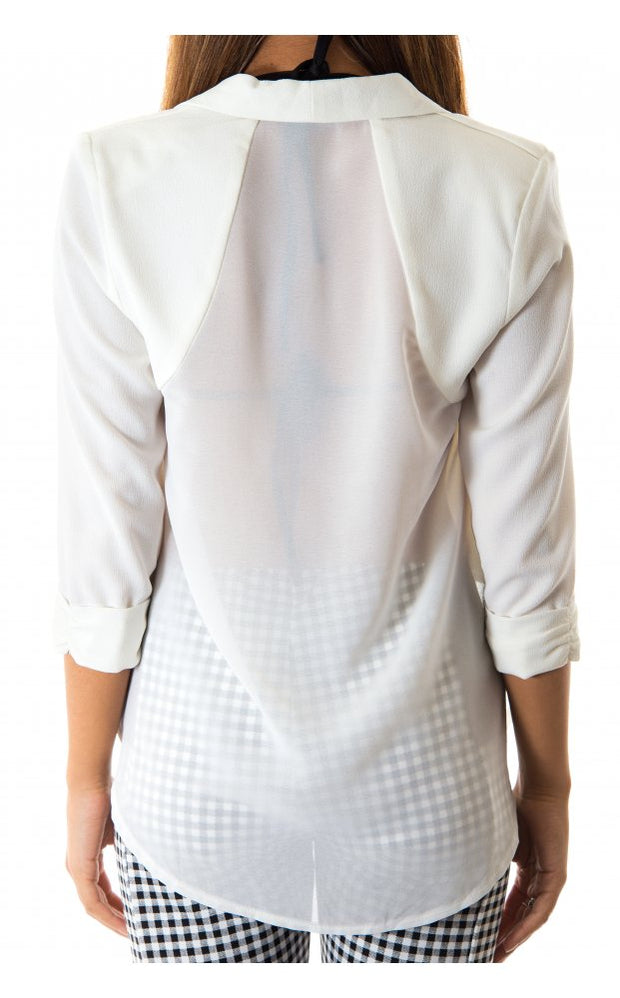 Ellie White Cropped Jacket