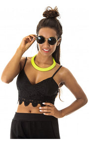 Parasian Lace Bralet Top In Black