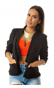 Nila Black Cropped Blazer