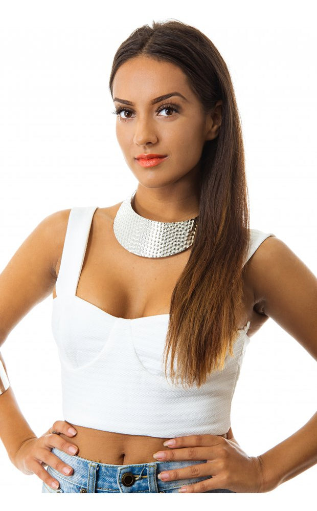 White Bralet Top