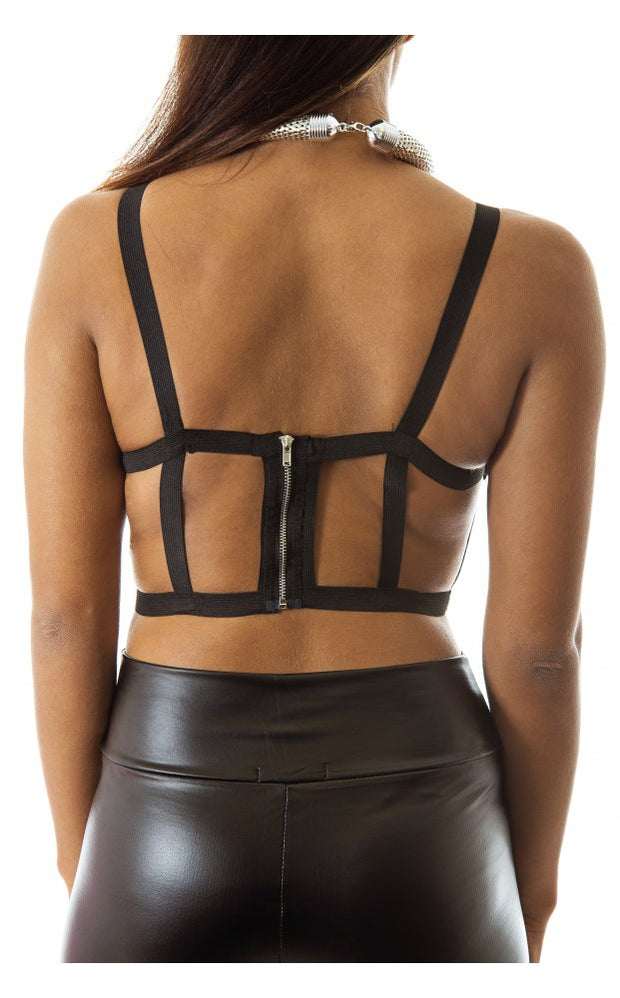 Limited Edition Black Caged Harness Top