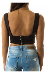 Cici Black Bralet Top