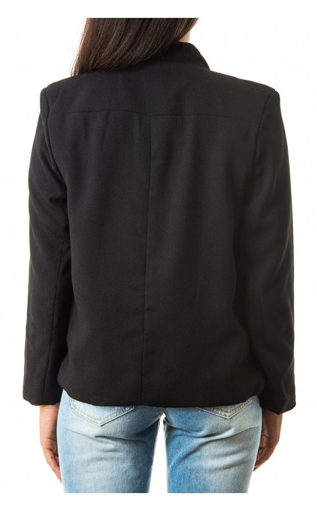 Nila Boxy Boyfriend Jacket In Black