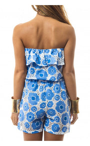 Playtime Blue Frill Playsuit