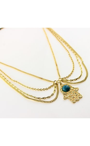 Hamsa Gold Head Chain