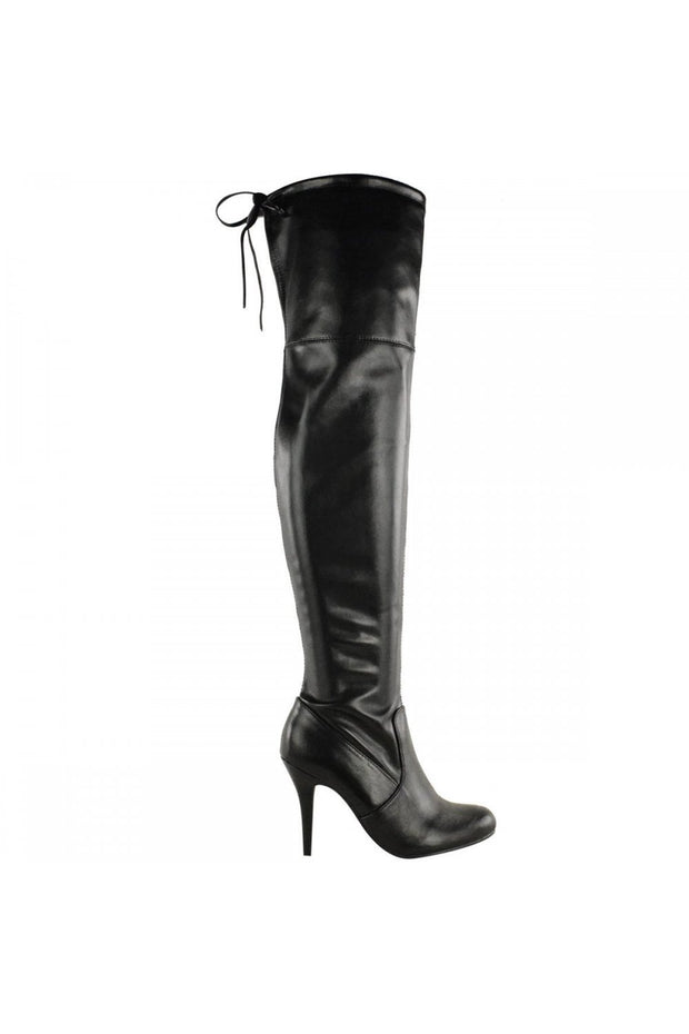Lola Over The Knee Black Boots