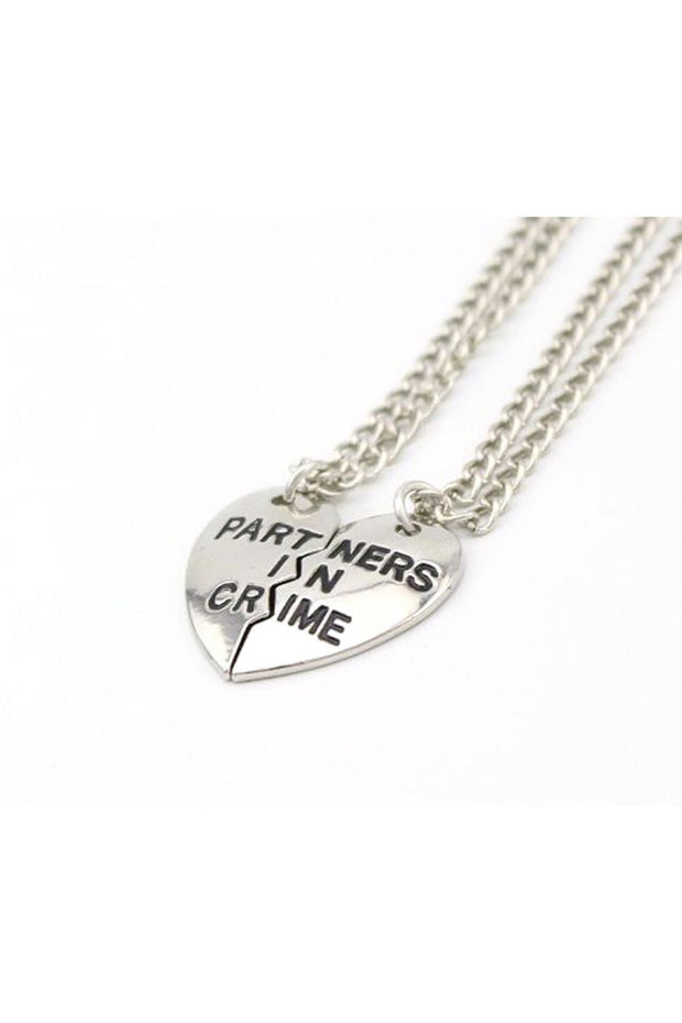 Partners In Crime Silver Friendship Necklaces