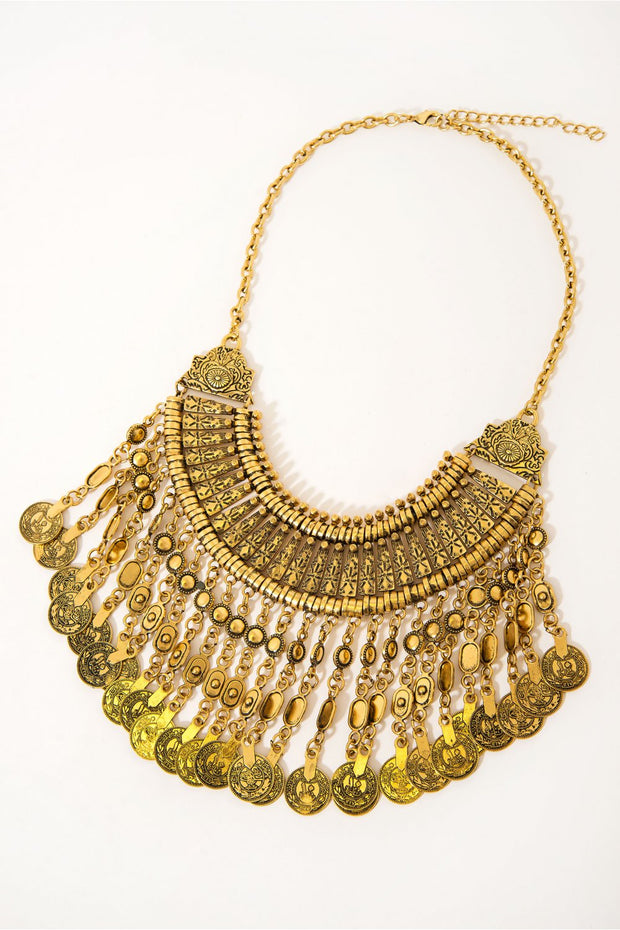 Vintage Style Gold Coin Necklace