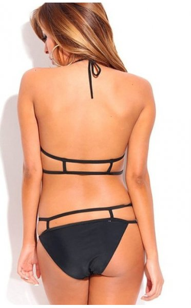 Limited Edition Caged Rebel Bikini In Black