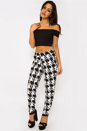 Maise Black Check Monochrome Trousers