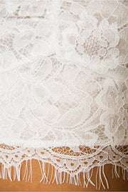 Date Night White Lace Bralet Top