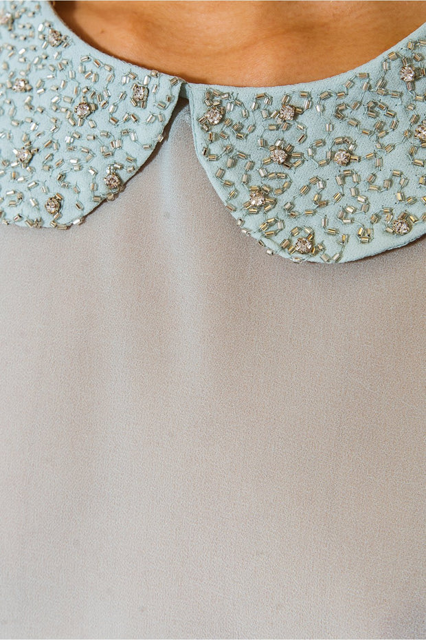 Lucy Sequined Collar Blouse